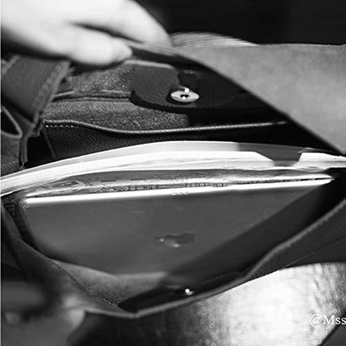 nera pelle a in Moda per Piccola donna per tracolla Leathario tracolla borsa wHP6B