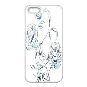 C-Y-F-CASE DIY Design Simple Flower Pattern Phone Case For iPhone 5,5S
