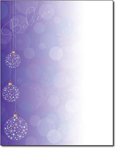 Believe Ornaments Letterhead 80 Sheets