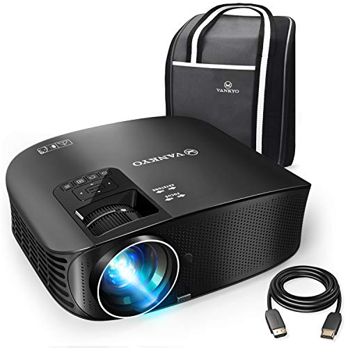 "VANKYO Leisure 510 Full HD Projector with 3800 Lux, Video Projector with 200"" Projection Size, Support 1080P HDMI VGA AV USB with Free HDMI Cable and Carrying Bag"