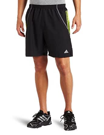 adidas Men's RESPONSE DS 7-Inch Short (Black, Slime, Sharp Blue, X-Small)