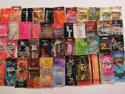 California Tan Tanning Lotion Trial Size Single use Packets Australian Gold Designer Skin Supre Snooki Jwoww Playboy and More Lot of 5