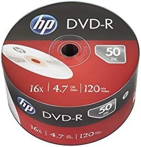 HP- Spool Hp DVD-R - 50 pack 4.7gb 16x, 50 piezas de 120 mins video: Amazon.es: Electrónica