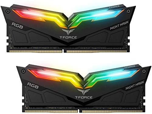 Team T-Force Night Hawk RGB 16GB (2 x 8GB) 288-Pin DDR4 SDRAM DDR4 3200 (PC4 25600) Memory (Desktop Memory) Model TF1D416G3200HC16CDC01 (Black)