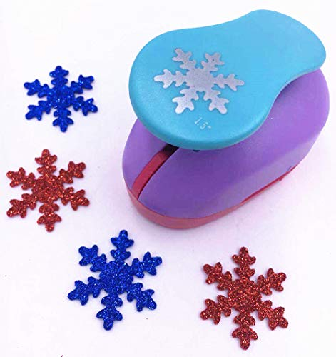 TECH-P Creative Life Shape Size (3.5cm-3.8cm) Multi-pattern Hand Press Album Cards Paper Craft Punch,card Scrapbooking Engraving Kid Cut DIY Handmade Hole Puncher Paper Craft Punch. (Snowflake)
