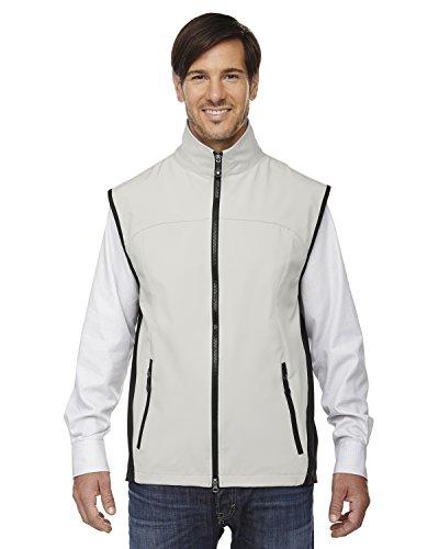 - Ash City - North End North End Adjustable Men's Soft Shell Vest, Natrl Stone 820, XXXX-Large