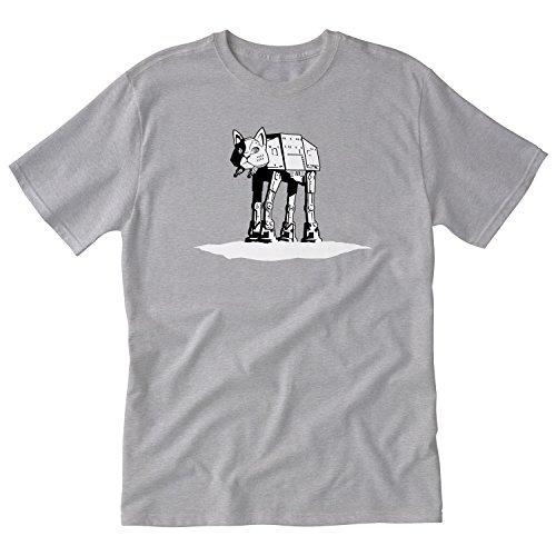 Cat Star Wars (Tshirt Laundry Star Wars cAT-cAT Tshirt L Gray)