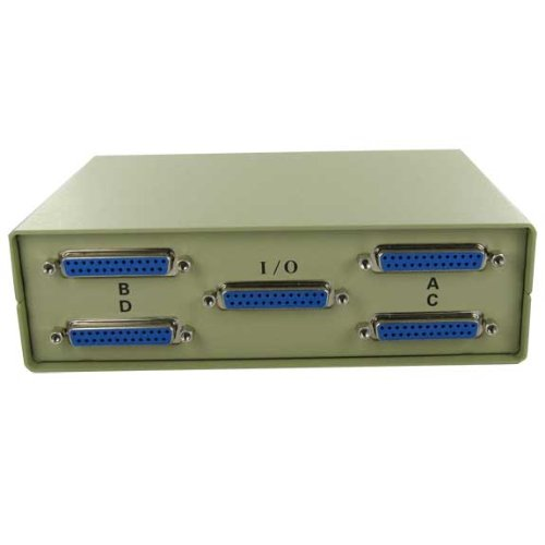 SF Cable, 4-Way IEEE 1284 DB25 Manual Switch Box (Db25 Box Manual Switch)