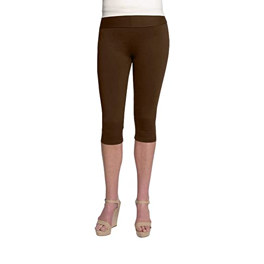 f83d1d19c8191 Hold Your Haunches As Seen On Shark Tank Chocolate Brown Caboose Boost  Capri Legging