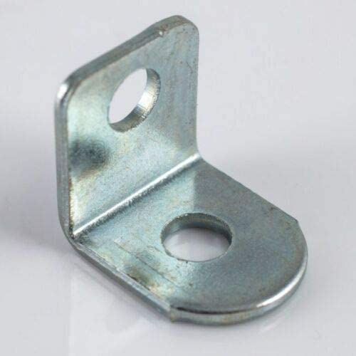 4mm Hole 10pk Small//Mini 12mm Steel Finish Sink Top Connecting Angle Bracket