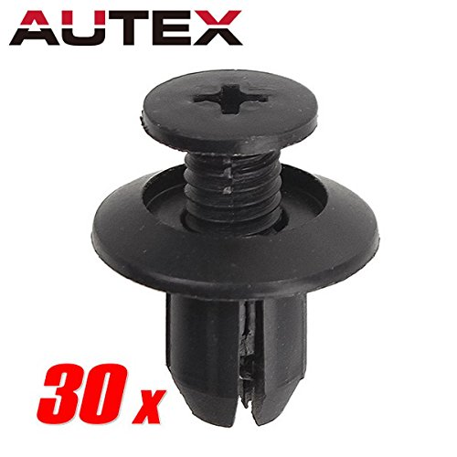 PartsSquare 30pcs Nylon Bumper Fastener Rivet Clips Fender Liner Fastener Auto Body Push Type Retainer Clamps Replacement for Hyundai/Kia