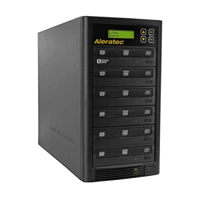 Image of Aleratec Direct V2 Copy Tower Stand-Alone Optical Drives, Black 1:5 DVD CD Copy Tower Disc Duplicators
