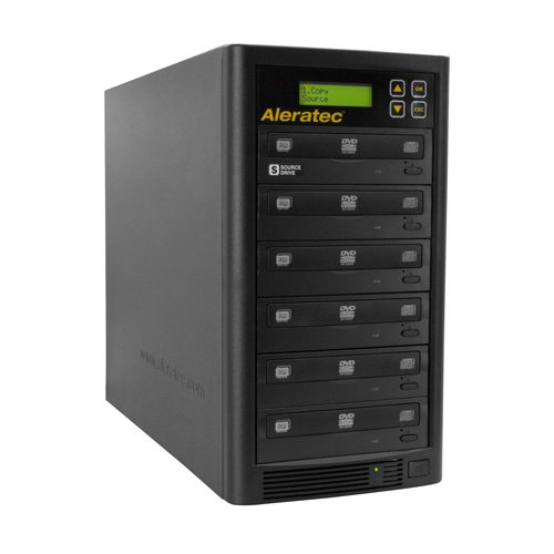 Aleratec Direct V2 Copy Tower Stand-Alone Optical Drives, Black 1:5 DVD CD Copy Tower by Aleratec