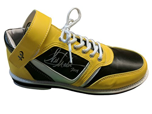 Bowling Yellow Shoe (Hollmark Shoes Men's High Top Multicolor Bowling Shoes for Left and Right Handed Bowler, Unique Style Classic Design, Soft, Light Weight Sole - Right Handed | Black/Yellow/Silver)