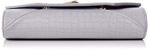 Bruni Bag Leather Grey Pu Grey Clutch SWANKYSWANS Clutch Grey Womens Croc FY56wnTq