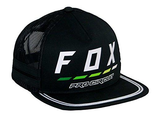 Fox Men's Pro Circuit Draftr Snapback Hat, Black, (Fox Mx Racing)