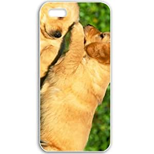 Apple iPhone 5 5S Cases Customized Gifts For Animals Puppy Power Normal Birds Animals White