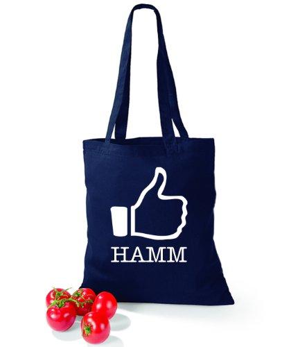 Artdiktat Baumwolltasche I like Hamm French Navy