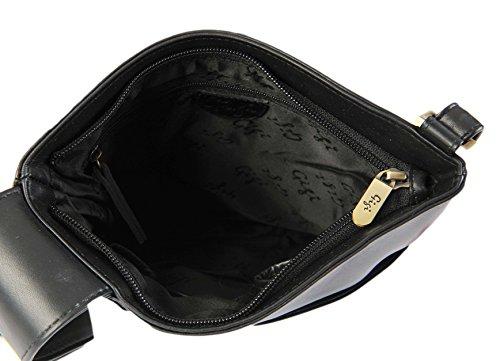 A Borsa 8082B Donna Viola Slim Morbida Pelle Small GIGI Othello Tracolla Nero Bag 1qORYwfZ