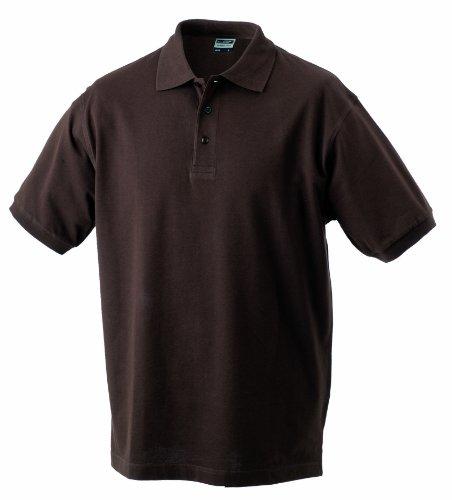 James & Nicholson Herren Poloshirt Classic Polo, Gr. Large, Braun