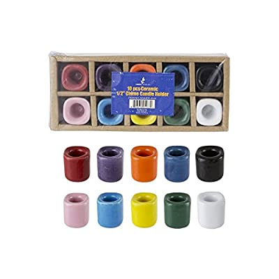 Ceramic Chime Ritual Spell Candle Holders 10pk