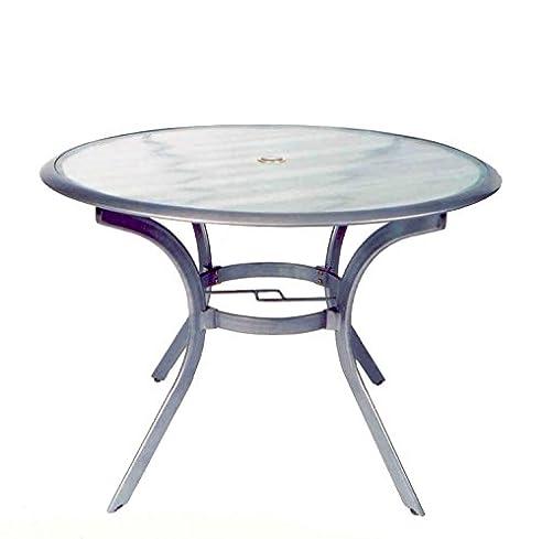 Gartentisch alu rund  Amazon.de: Ploß Alu Glastisch Ø102cm Tisch Aluminium rund ...