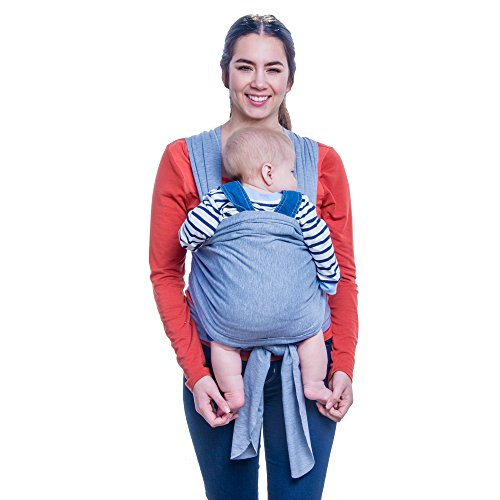 Baby Wrap - Ergo Baby Carrier by FNF Snugz -Baby Sling, Baby Wrap Carrier, Nursing Cover and Baby Slings and Wraps for Infants and Newborn (Light Gray)