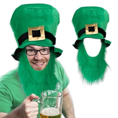 Beads St Pats Glass (St. Patrick's Top Hat With Beard)