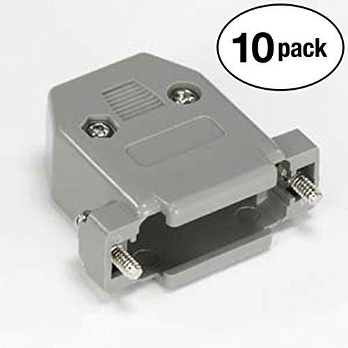 InstallerParts (10 Pack DB15 Plastic Hoods Gray Screw Type ()