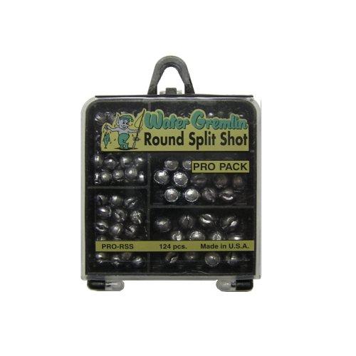 Water Gremlin Round Split Shot Pro Pack, 48ea/BB, 36ea/3/0, 16ea/7, 12ea/5, -