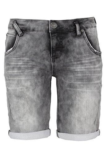 Sublevel Bermuda in felpa da donna | Pantaloni corti da donna effetto jeans usato Grigio