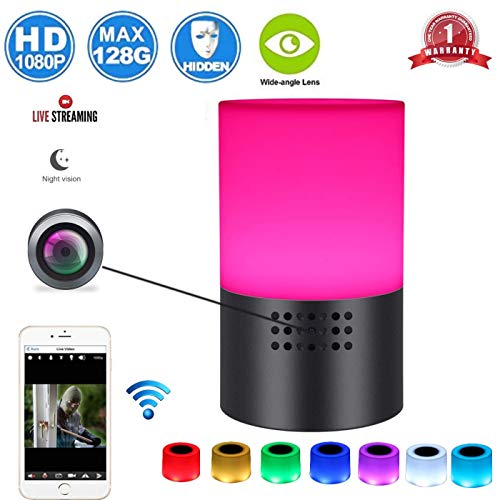 Spy Camera Wireless Hidden -Wifi Nanny Cam-1080 HD Hidden Security Cameras for Home- Lamp Surveillance Video Cam-Motion Detection – Live Remote Viewing -Smart Snap Cams with Cell Phone App