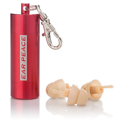 EarPeace HD High Fidelity Gehörschutz (Ohrstöpsel) (Ohrstöpsel Weiß / Schutztasche Rot)