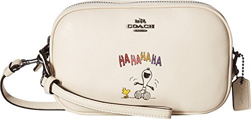 COACH Women's Box Program Snoopy Crossbody Clutch Qb/Chalk One Size by Coach