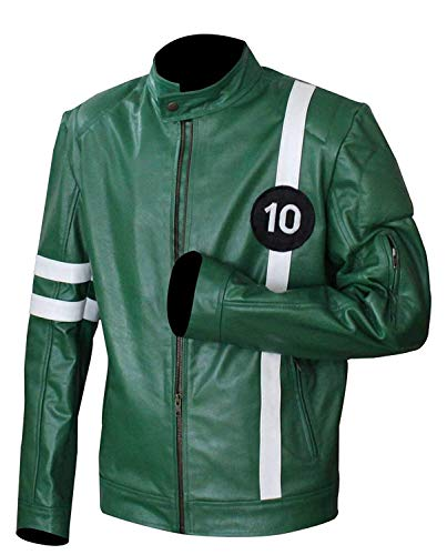 Ben 10 Tennyson Green Alien Swarm Ryan Kelly Faux Leather Jacket