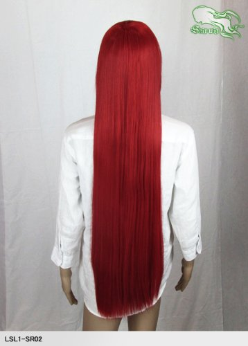 Cosplay Skip Wigs Rapunzel long Tomato red
