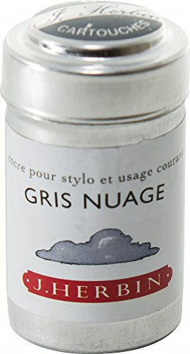 J. Herbin Ink Cartridges Gris Nuage