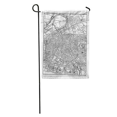 Semtomn Garden Flag Paris and Its Environs During The 1890S Vintage Engraving Old Home Yard House Decor Barnner Outdoor Stand 12x18 Inches Flag
