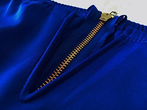 c20d76deca Lalagen Women s Vintage 1950s Party Cocktail Wedding Swing Midi Dress Blue M