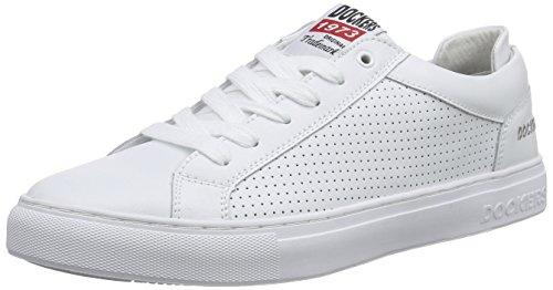 Dockers Par Gerli 38tb002-100 Hommes Blancs Bas En Haut (blanc 500)