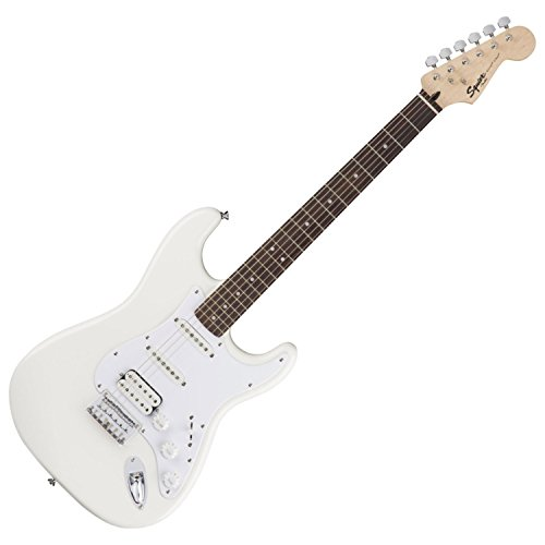 Fender 6 String Bullet Stratocaster Electric Guitar-HSS-Hard Tail-Rosewood Fingerboard-Arctic White, (0311005580) - Stratocaster White Classic Guitar