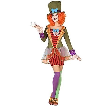 CHANGL Mujeres Fantasia Alicia en el País de Las Maravillas Disfraz de Sombrerero Loco Adulto Señoras Halloween Mago Cosplay Disfraces Disfraces: Amazon.es: Juguetes y juegos