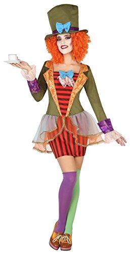 hochwertige Materialien Finden Sie den niedrigsten Preis Rabatt-Sammlung ATOSA 38656 Hutmacherin Kostüm, Damen, mehrfarbig, XS-S