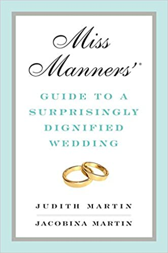 Miss manners wedding gift rules