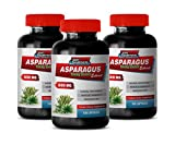 Natural Brain Supplements for Memory and Focus - Asparagus 600 MG - Young Shoots Extract - Premium Dietary Supplement - Natural Digestive wellnes - 3 Bottles 300 Capsules