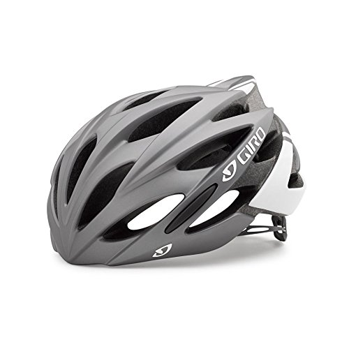 Giro Savant Road Bike Helmet, Matte Titanium/White, Medium (Best Priced Road Bikes)