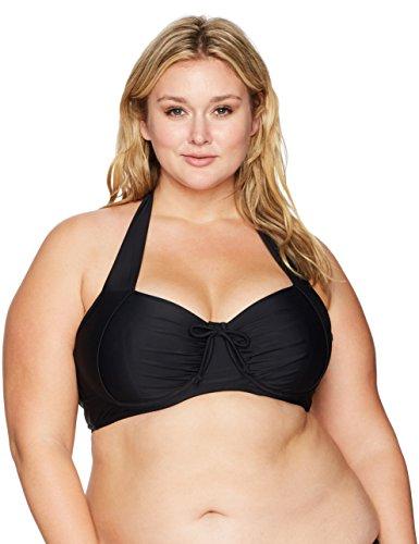 6959217d51a Coastal Blue Women s Plus Size Swimwear Crossback Underwire Bikini Top