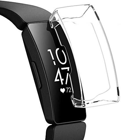 [해외]VICARA for Fitbit Inspire HR 사례 낙하 방지 전면 보호 장식 탈 착 용이 맞는 비트 Inspire HR 프로텍터 커버 Fitbit Inspire HR 보호 케이스 TPU 내충격성 (클리어) / VICARA for Fitbit Inspire HR Case Fall Prevention Total Protection Decor...