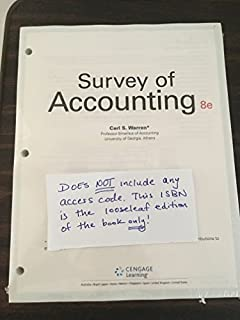 Amazon survey of accounting 9781285183480 carl s warren books survey of accounting loose leaf version fandeluxe Image collections