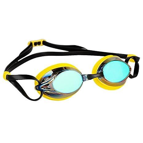 03c5e465a22 Amazon.com   Mad Wave Spurt Rainbow Mirrored Goggles - Yellow ...